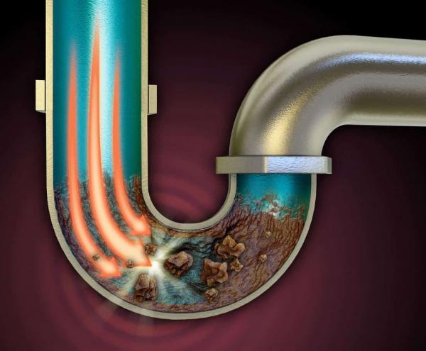 6 causas de los atascos en tuberias