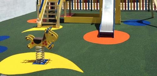 Resina para caucho de parques infantiles